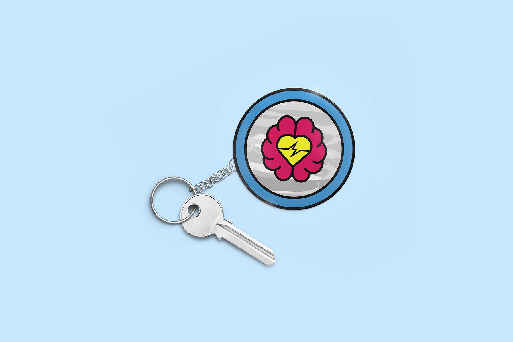 JALASTAIR Sober Mind Keychain