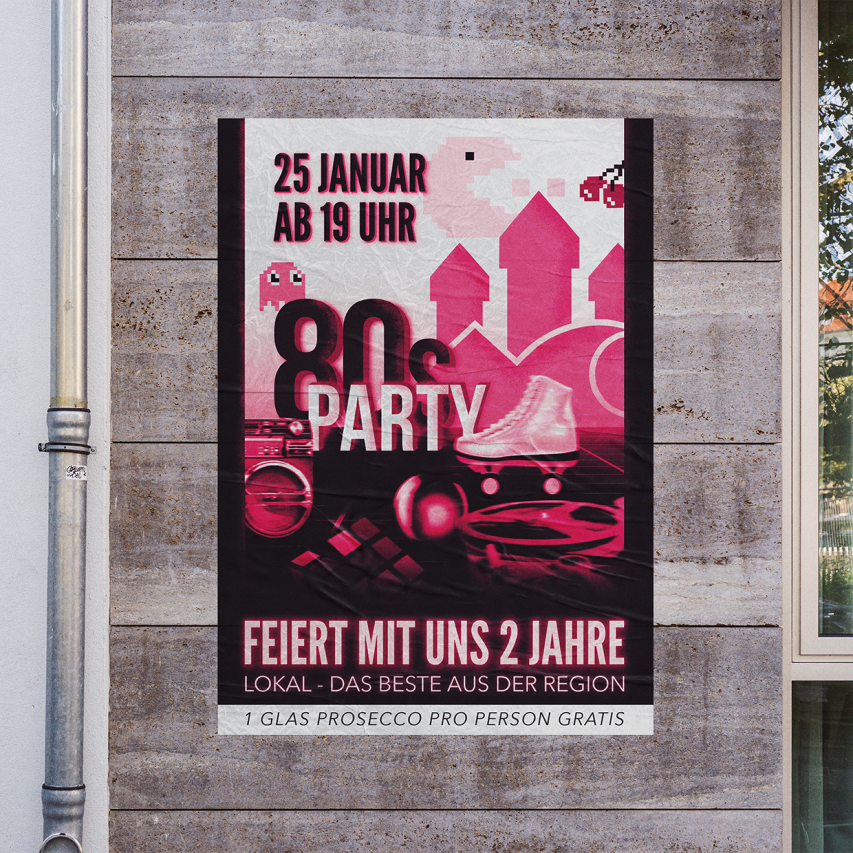 80s Party Poster
