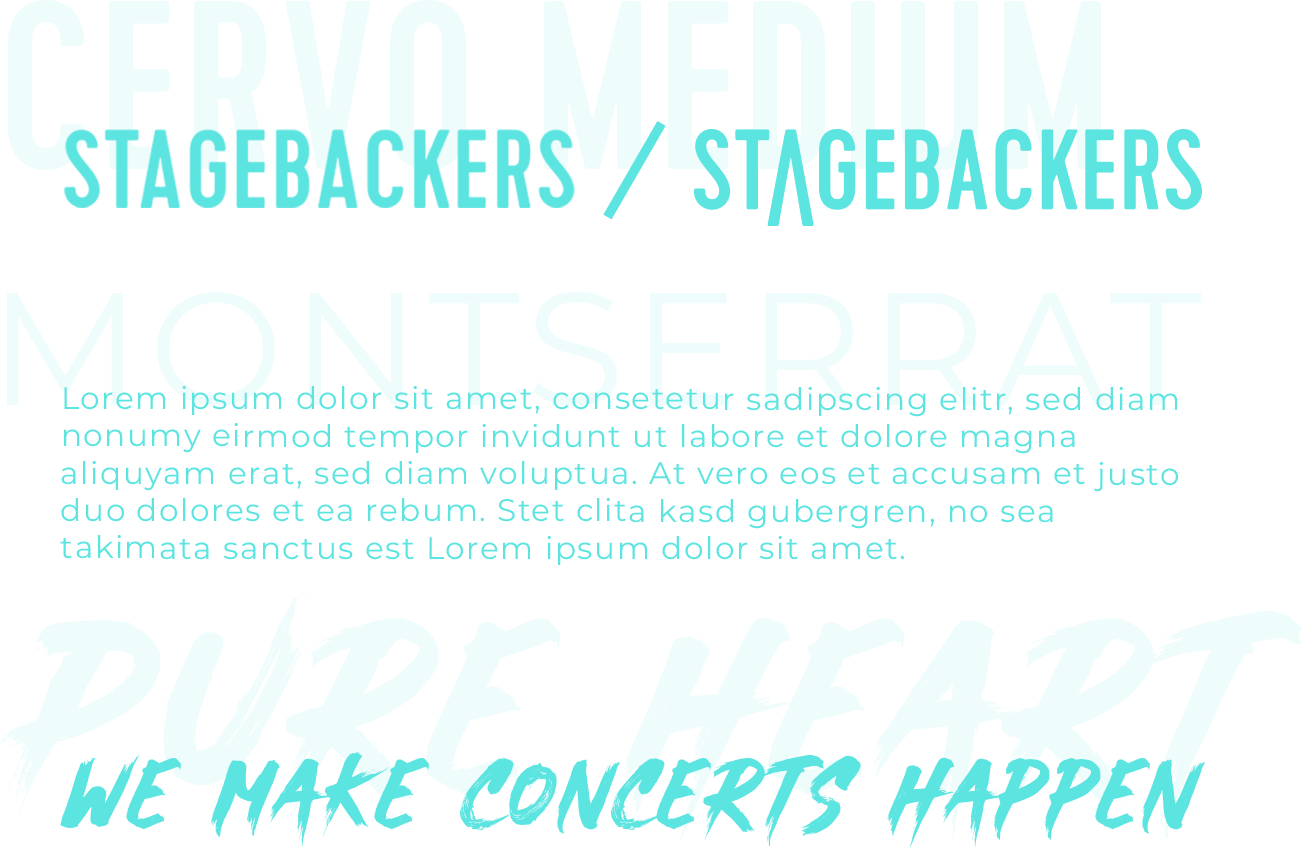 Stagebackers Font Concept
